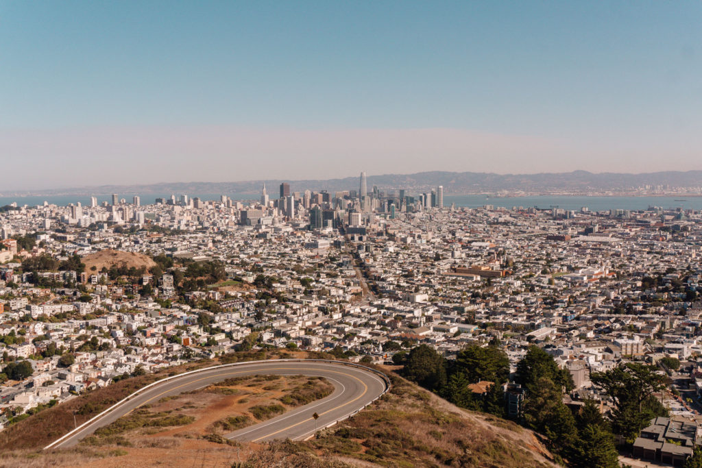View from Twin Peaks in San Francisco