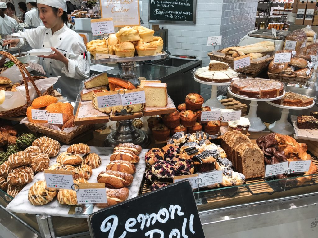 A spread of various pastries from Dean & Deluca