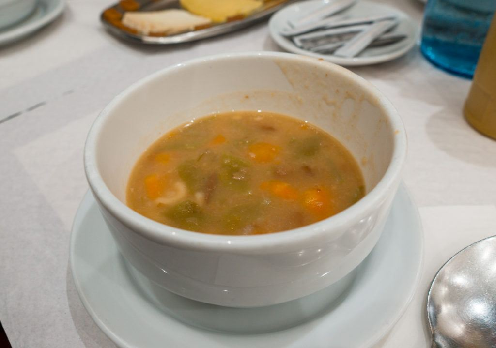Vegetable soup at Taste of Lisboa food tour