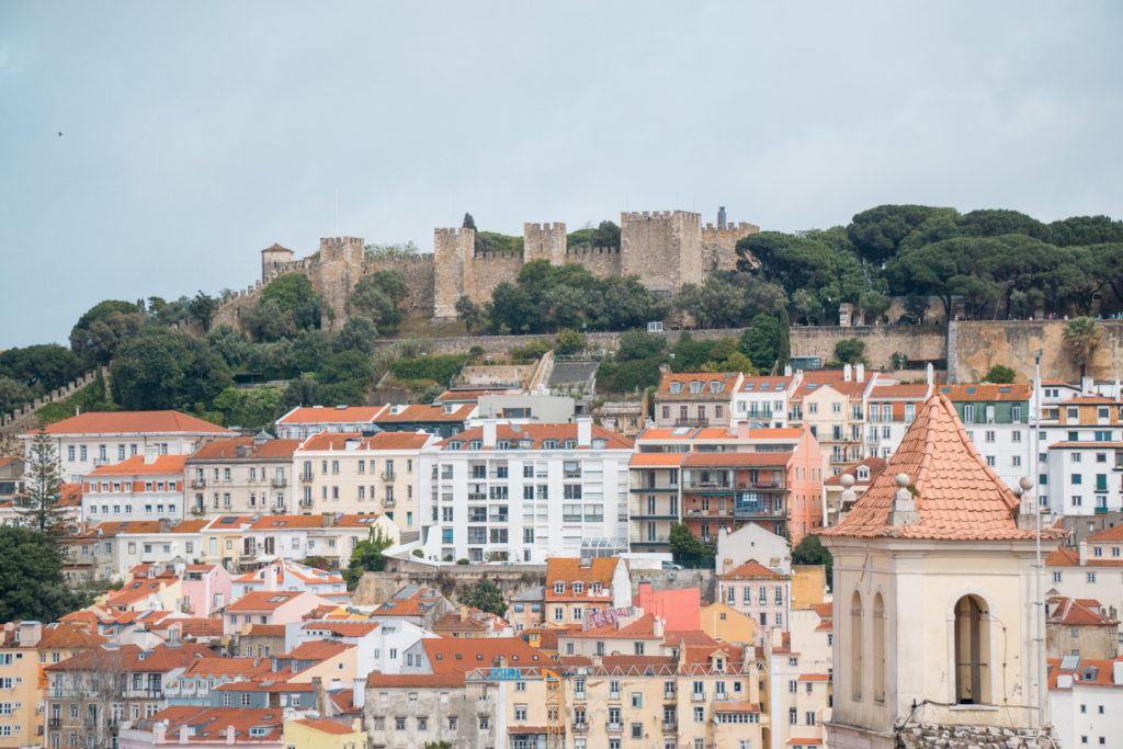 View of São Jorge Castle in Lisbon, Portugal