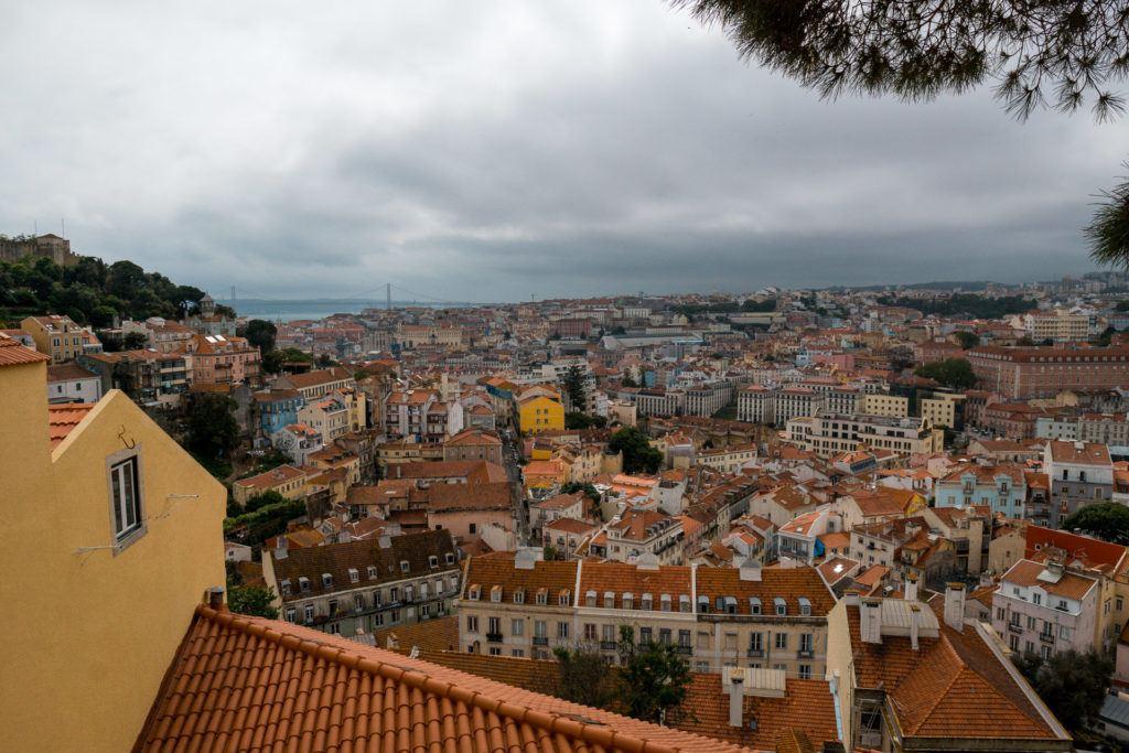 View from Miradouro Sophia de Mello Breyner Andresen in Lisbon, Portugal