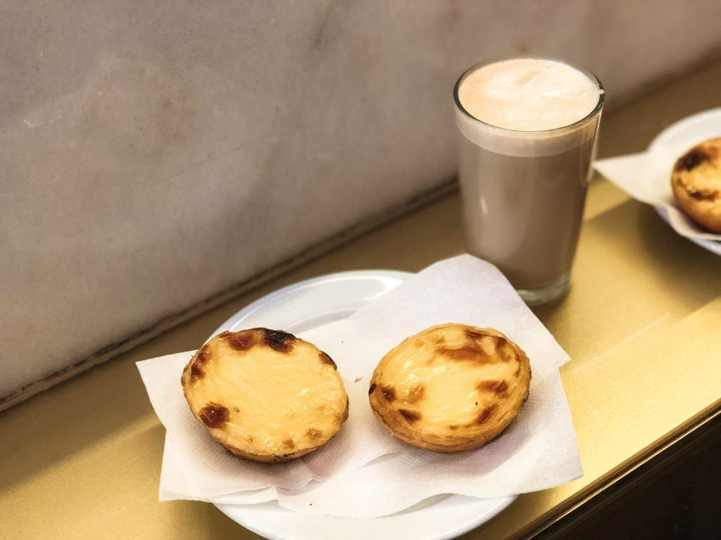 Pastel de Nata Portuguese custard tarts from Manteigaria in Lisbon