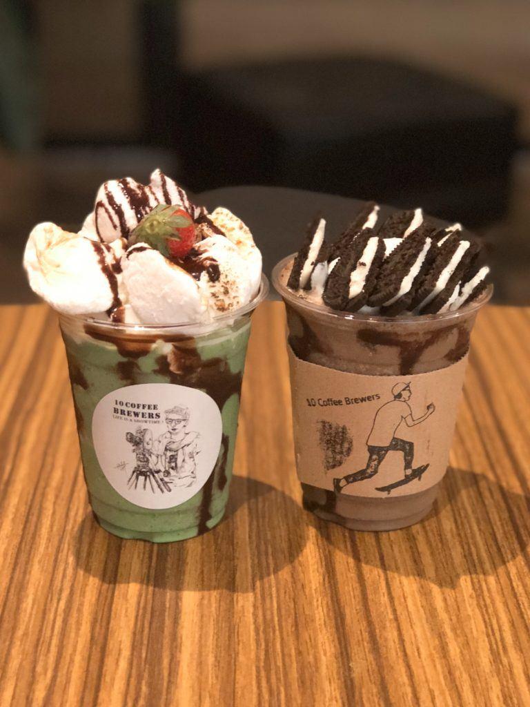 Dessert shakes from 10 Coffee Brewers - Oita, Japan
