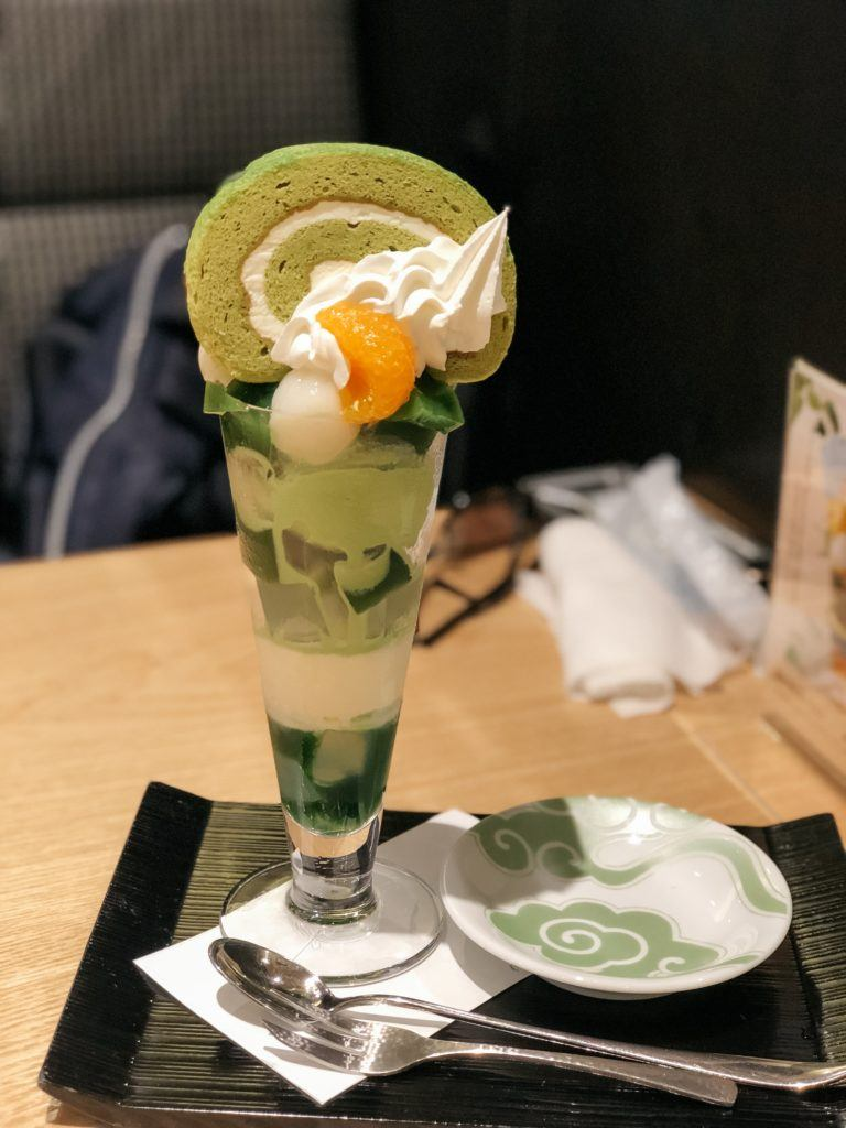 Matcha Parfait in Japan