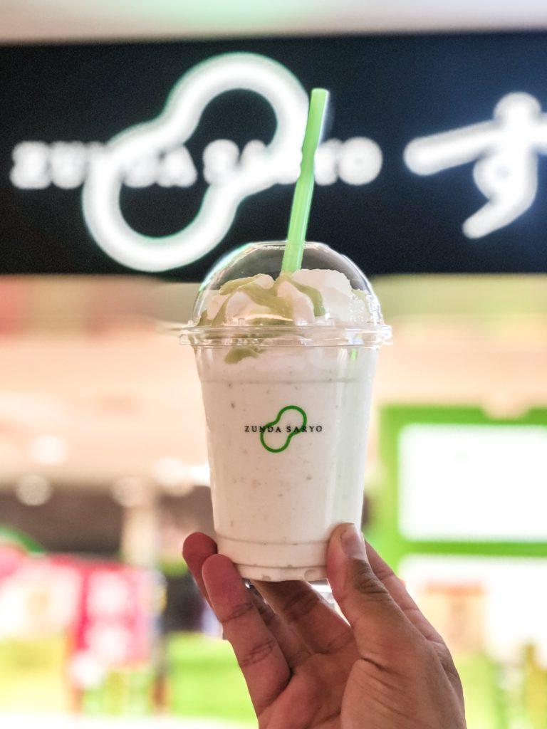 Edamame Milkshake in Sendai, Japan