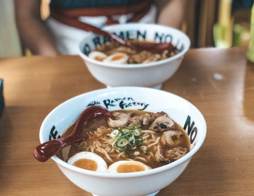 Bowl of ramen from Ramen Factory Kyoto