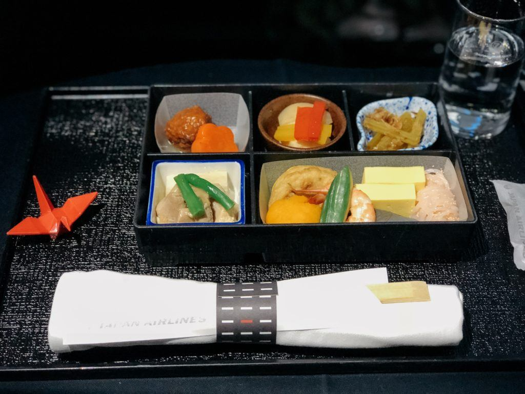 Bento box on JAL business class flight 787
