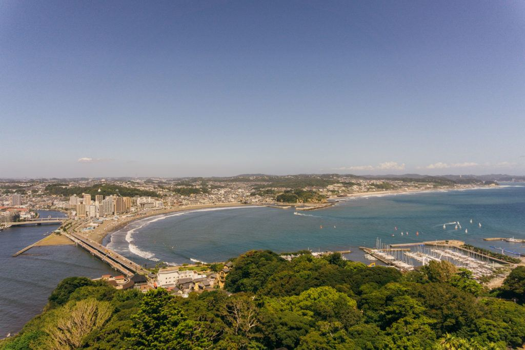 View from the observation tower at Samuel Cocking Garden on Enoshima Island