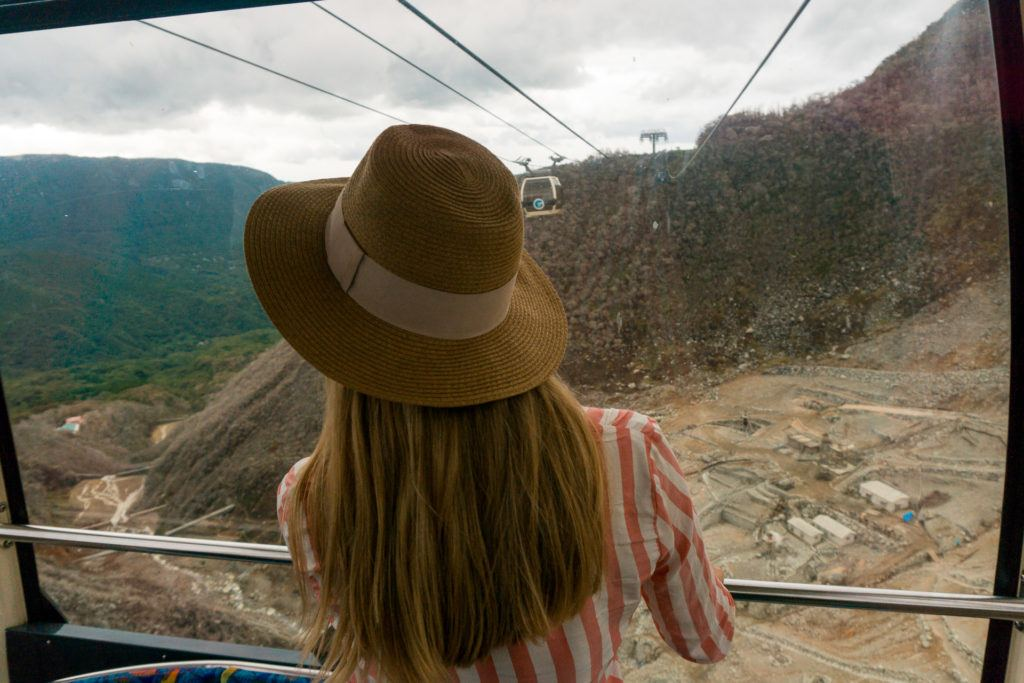 Views of Owakudani from Hakone Ropeway.