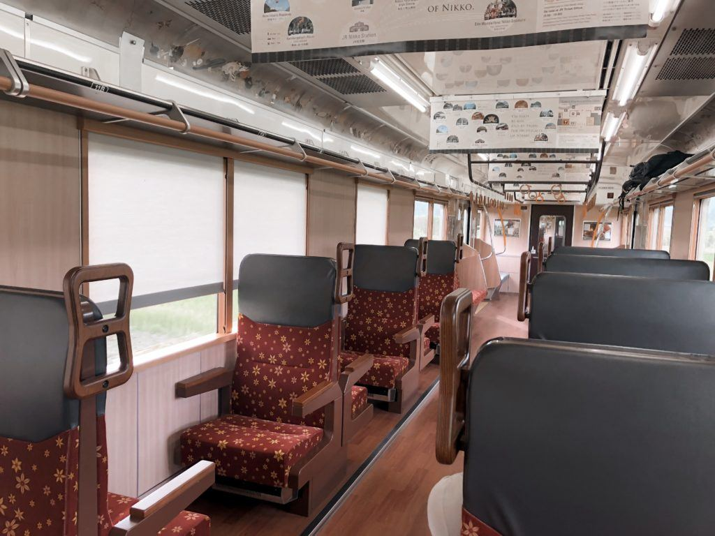 Train ride to Nikko, Japan