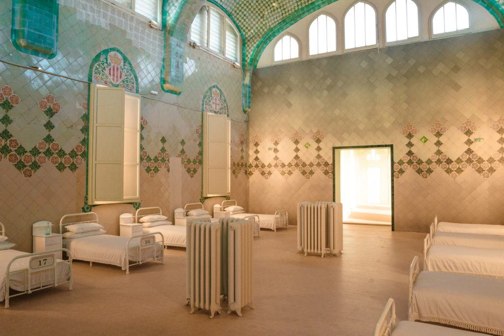 One of the hospital rooms at Recinte Modernista de Sant Pau.
