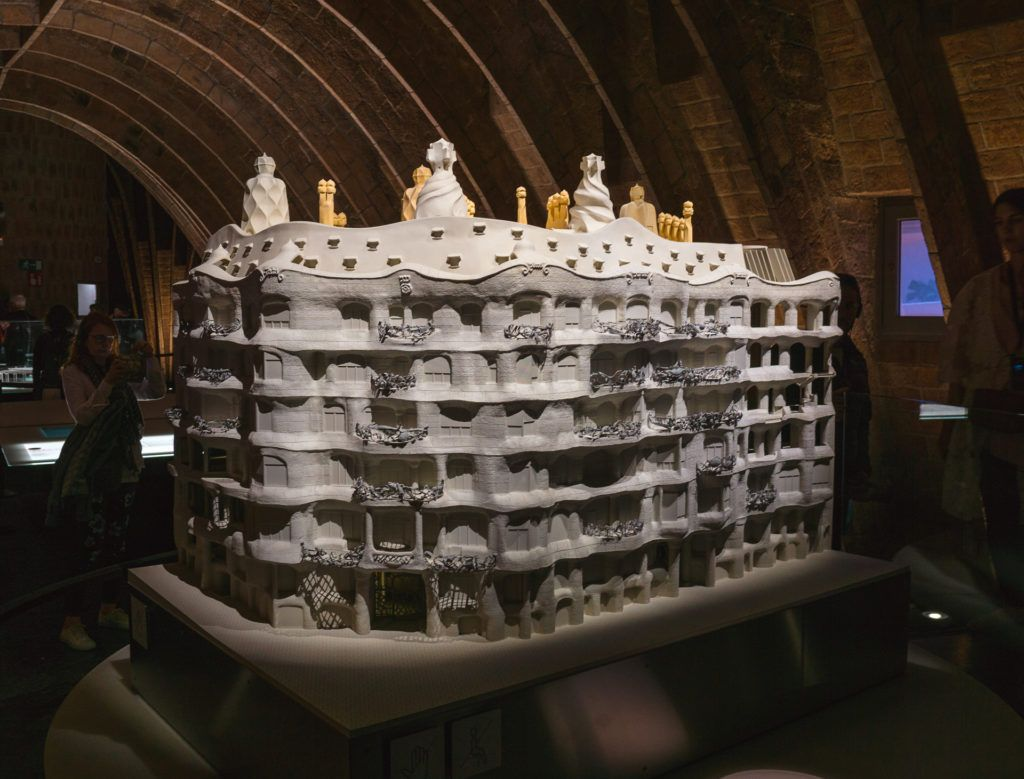 Model of Casa Milà in Barcelona.