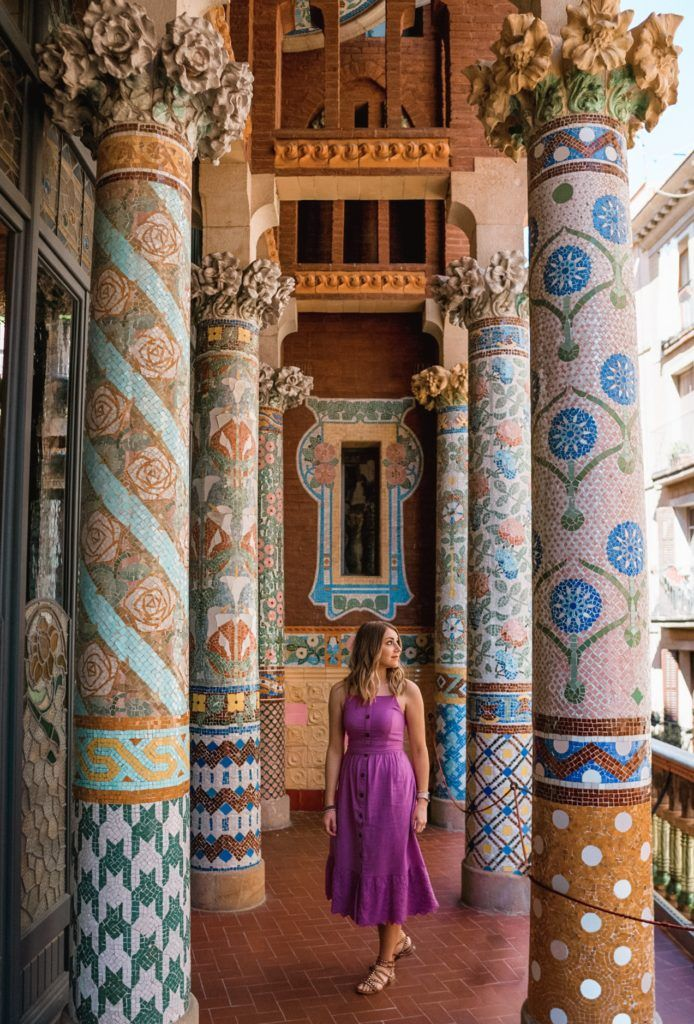 Palau de la Música Catalana is one of the most beautiful places to visit during 2 days in Barcelona