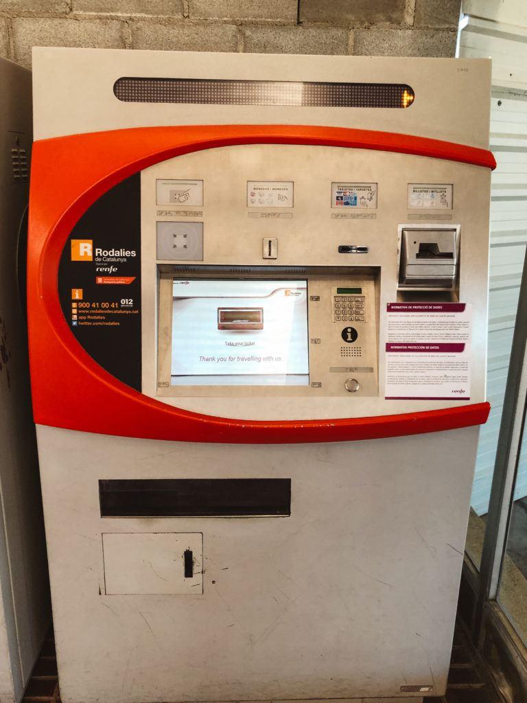 Ticket machine in Barcelona.