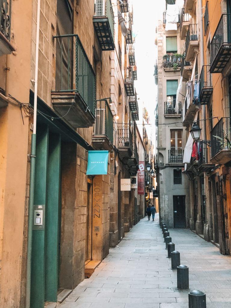 Alleyway of El Born in Barcelona.