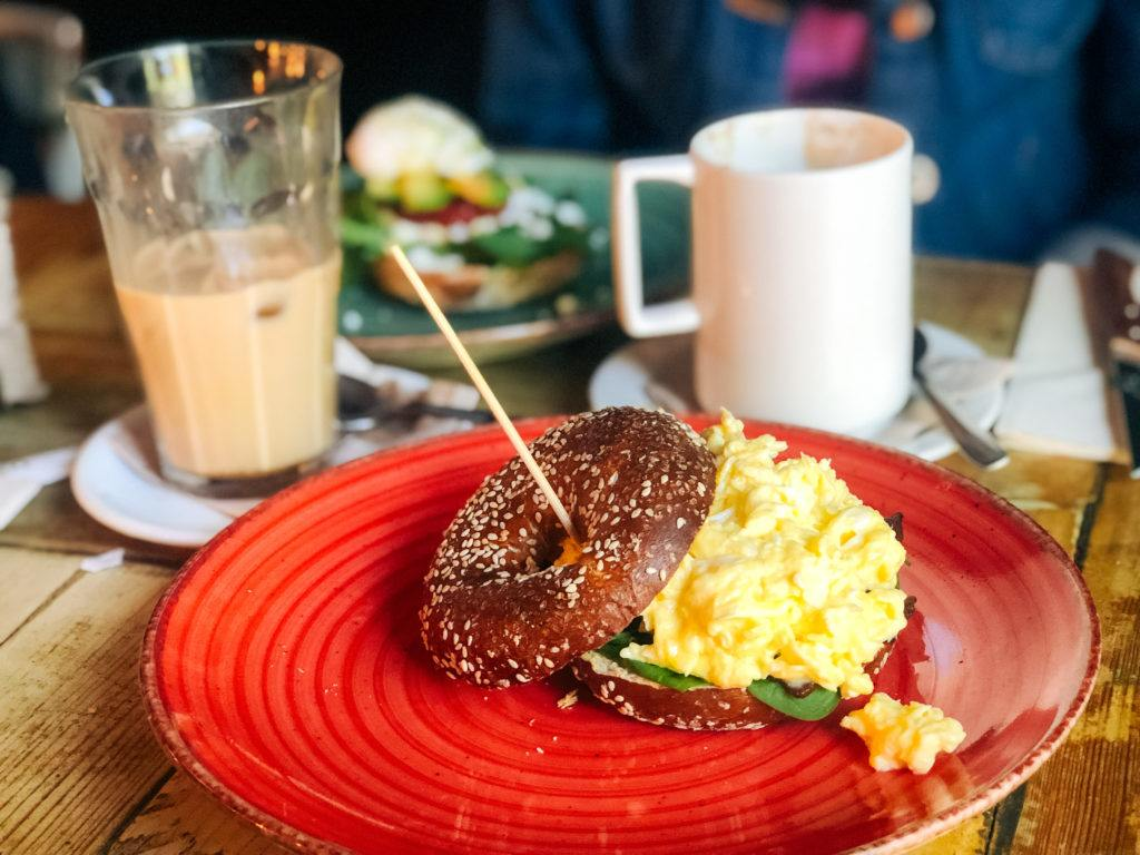 Scrambled egg breakfast bagel from Citizen Cafe