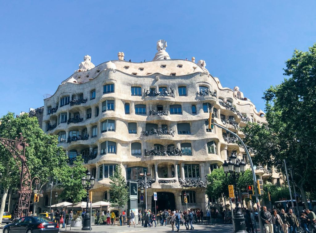 Outside of Casa Milà in Barcelona.