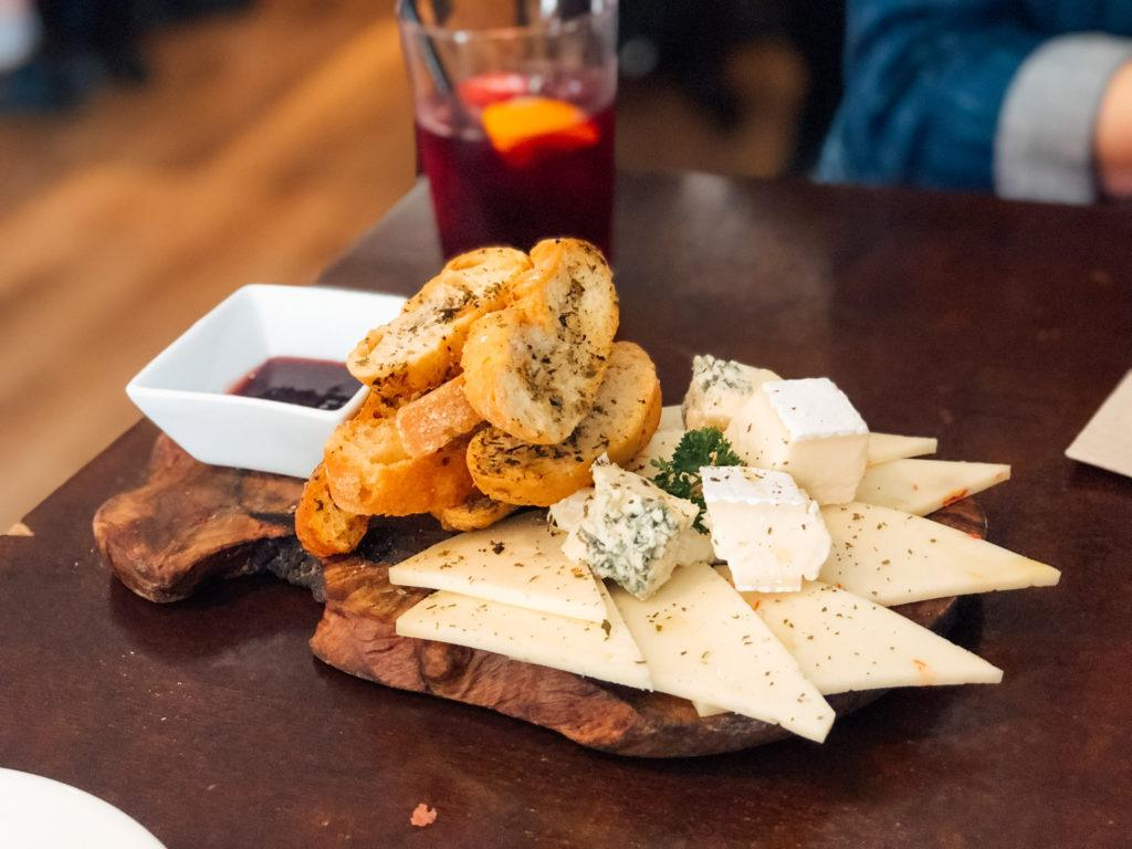 Cheese platter at Tosca Tapas y Vino.