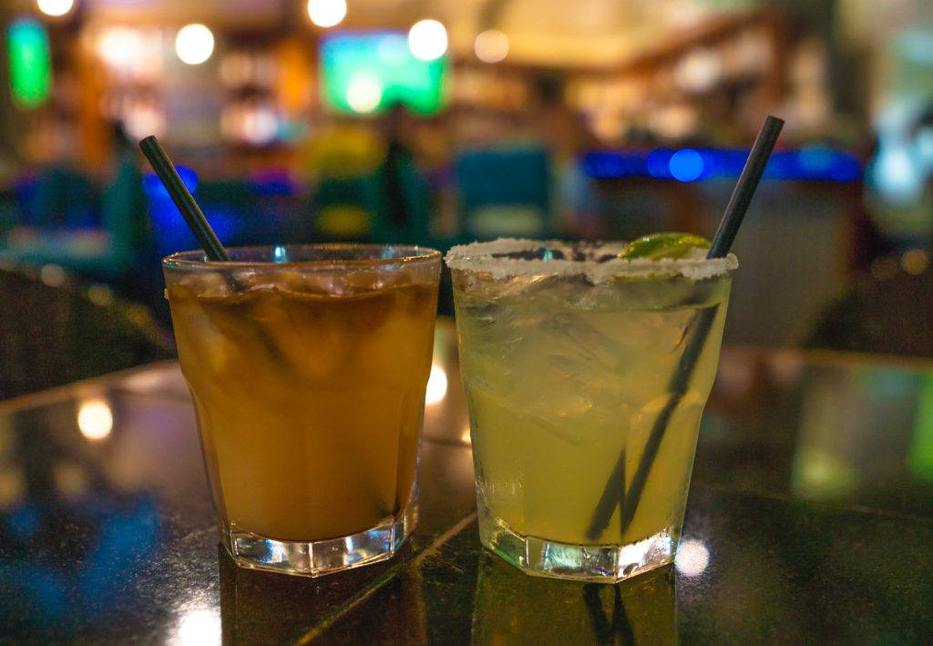 Three's Mai Tai and Lime Margarita at Three's Bar and Grill in Maui