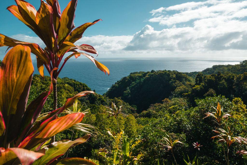 Keopuka Rock Overlook at Garden of Eden in Maui