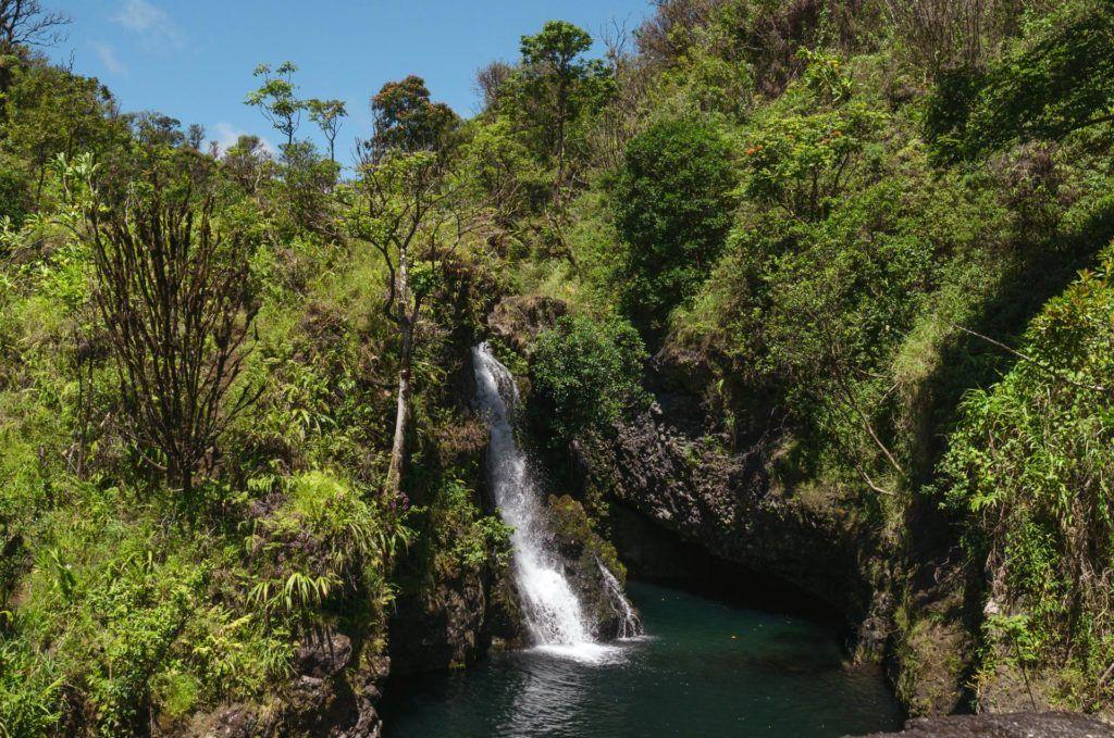 Hanawi Falls on the Road to Hana in Maui.