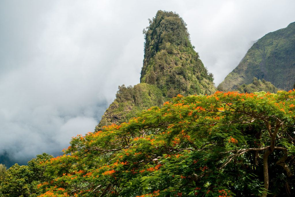 Iao Needle Monument at Iao Valley State Park in Maui.