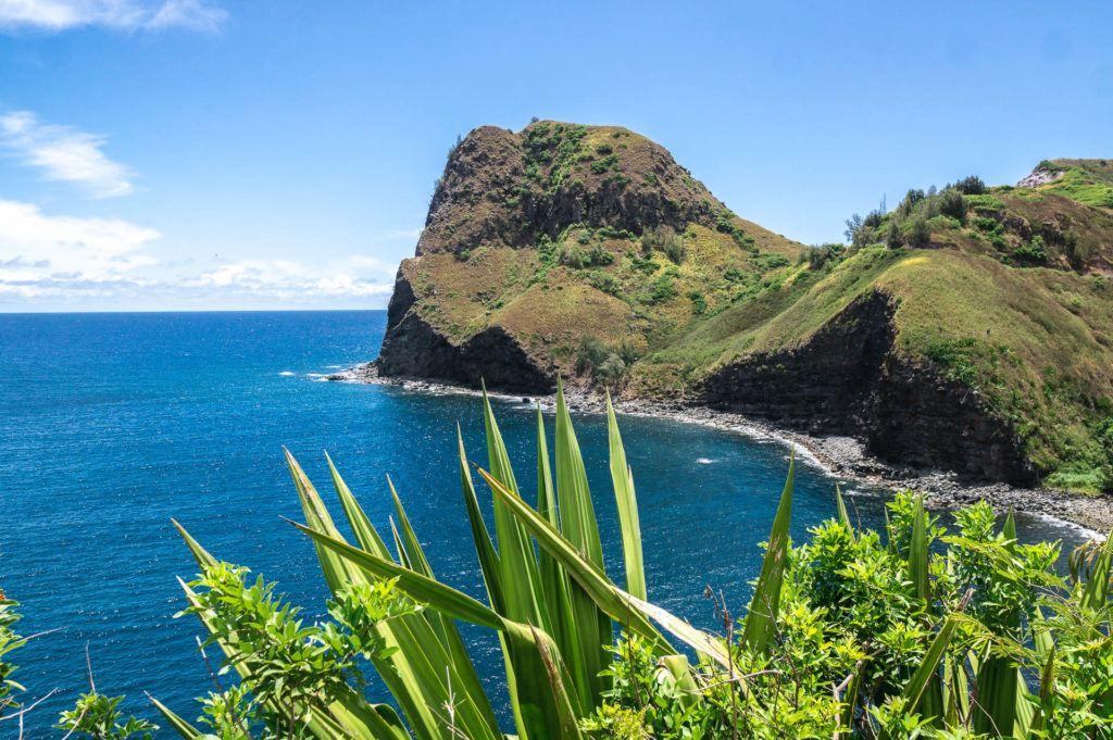 View of Kahakuloa Bay in Maui.