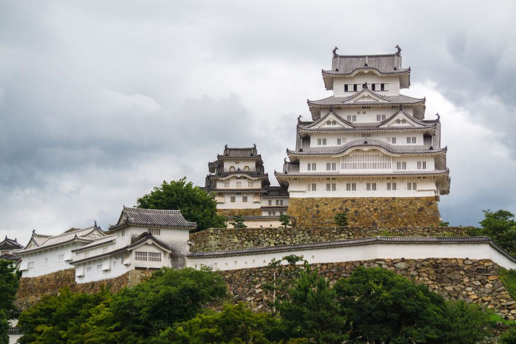 View of Himeji Castle from the front.