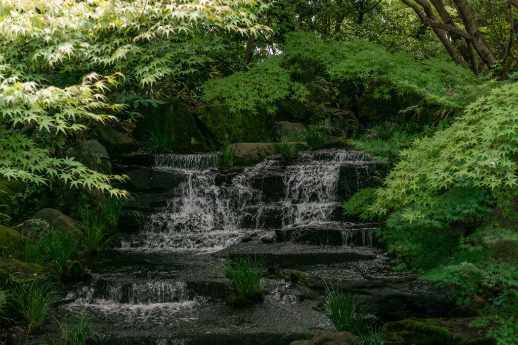 Waterfall at Kokoen Garden.