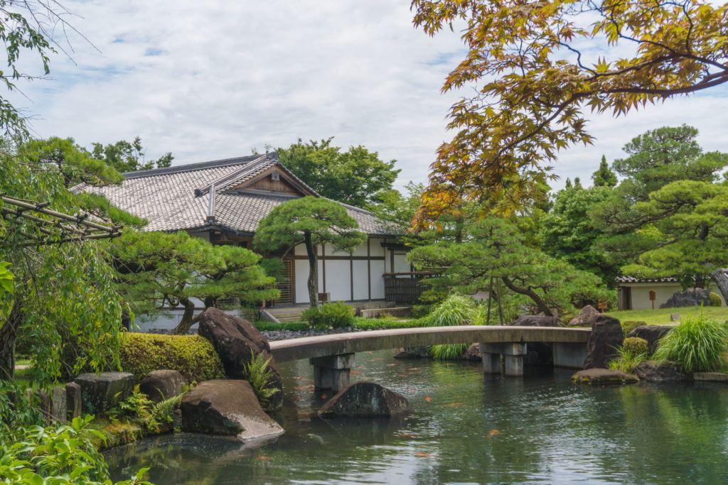 Kokoen Garden Bridge in Himeji.