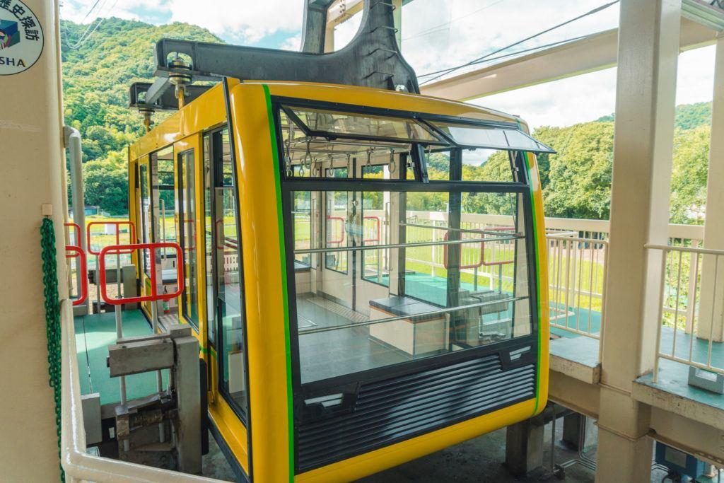 Mt. Shosha Ropeway cable car in Himeji, Japan.