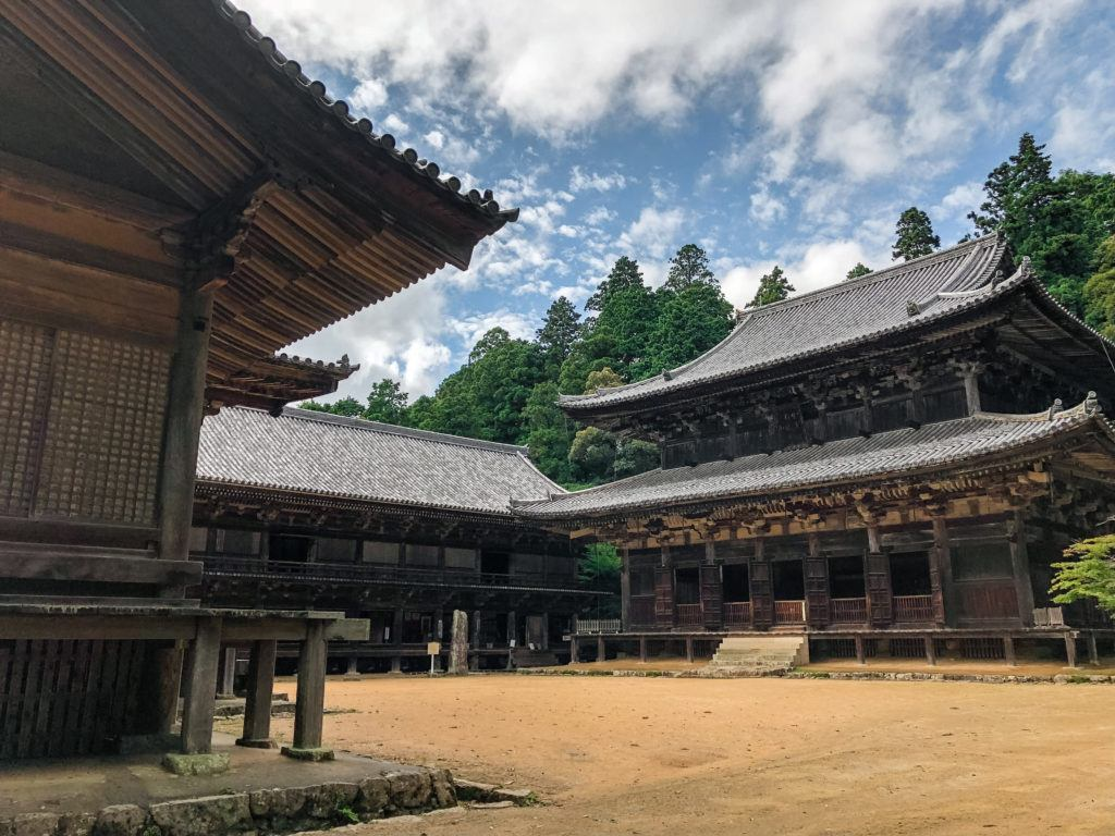 View of the famous scene from The Last Samurai at Shoshazan Engyoji Temple in Himeji, Japan.
