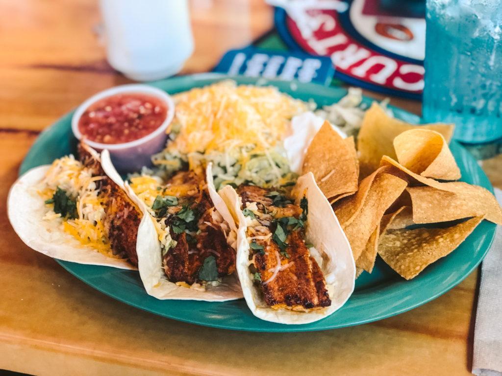 Blackened Fish Tacos at Captain Curt's in Sarasota, Florida