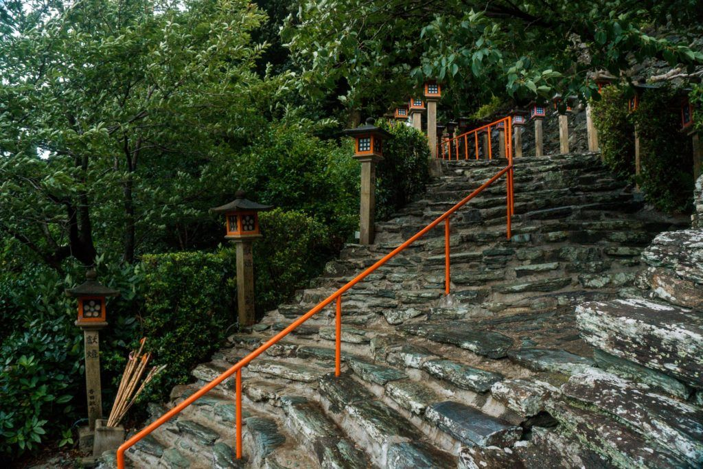 Stairs to a temple in Wakayama, Japan