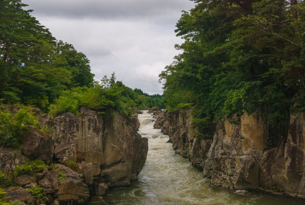 View of Genbikei Gorge in Japan