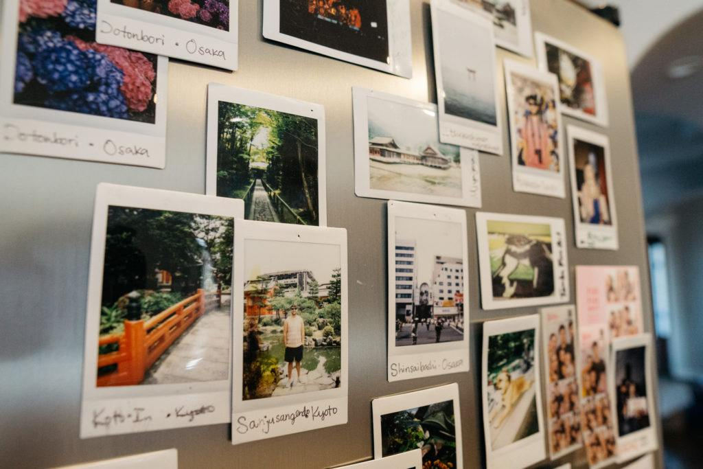 Polaroid Photography - Decorating with travel souvenirs