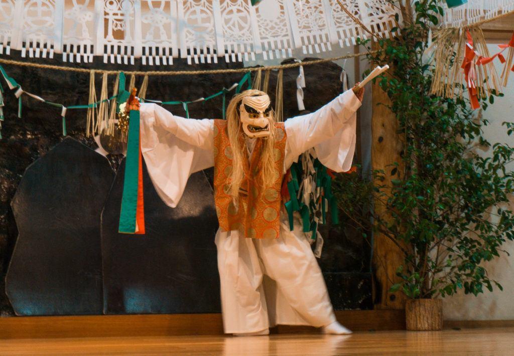 Yokagura dances at Takachiho Shrine