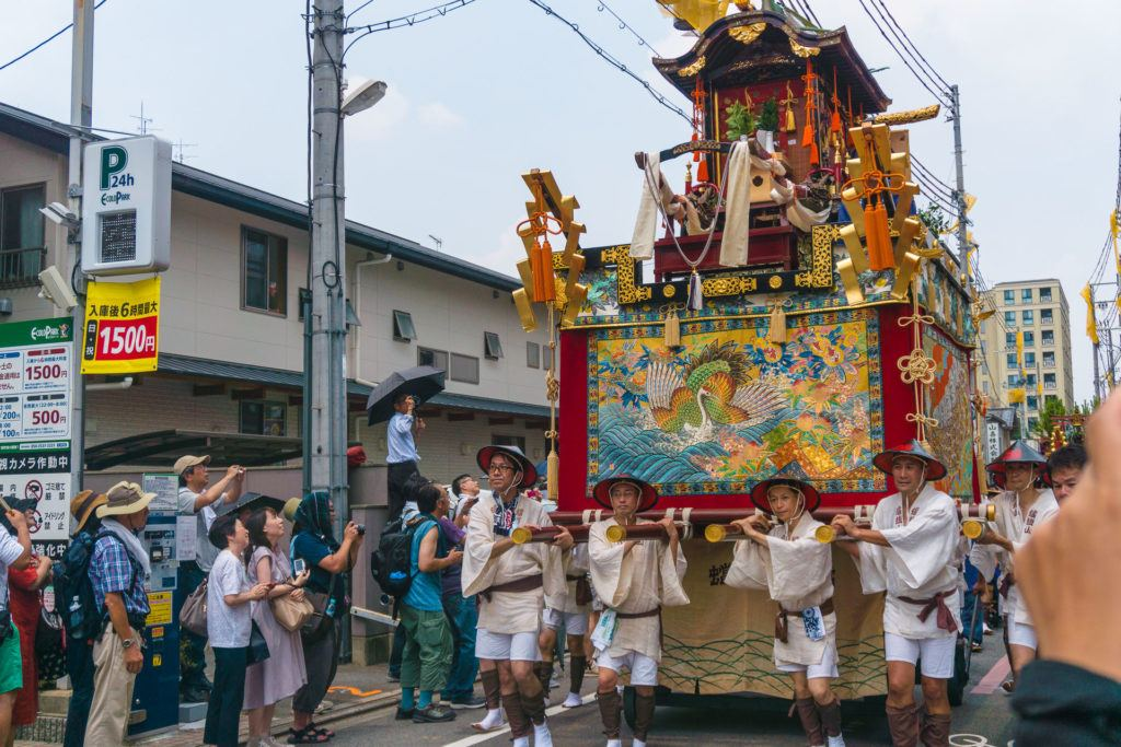 One of the floats at Gion Matsuri - Kyoto