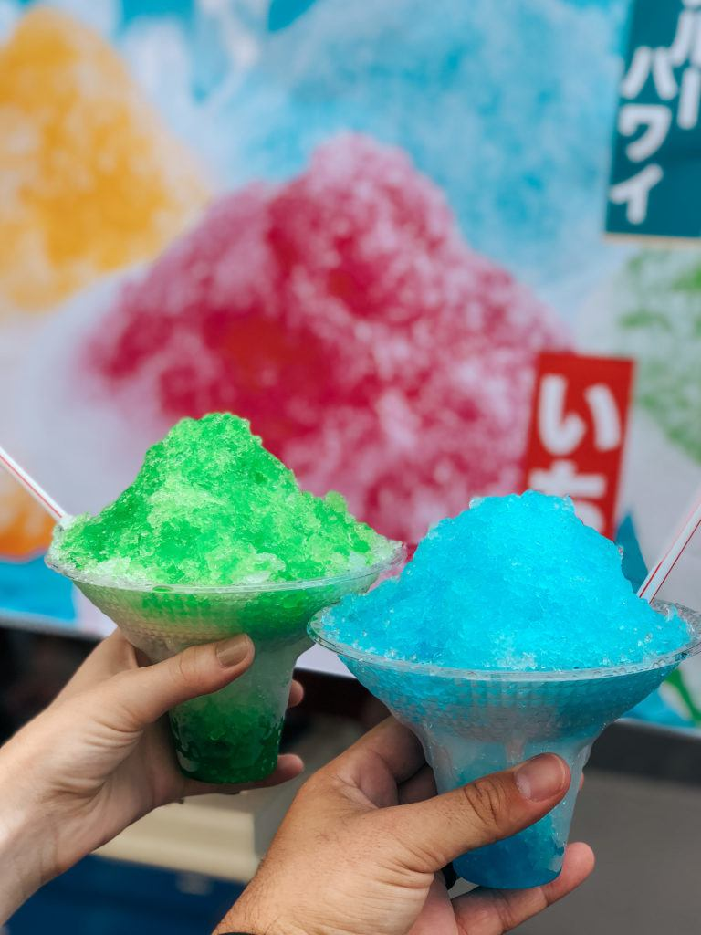 Kakigori (Japanese Shave Ice) at the Nagaoka Fireworks Festival.