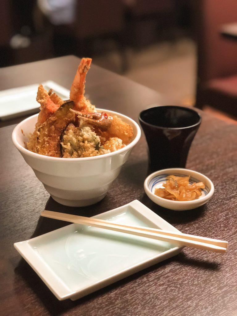 Seafood Tempura Rice Bowl in Hokkaido