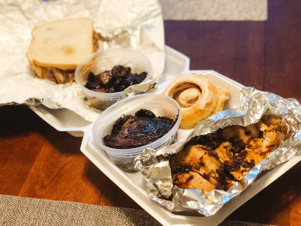 Pulled chicken, burnt ends, grilled cabbage, and other barbecue items from Recipes and Barbecue - best restaurants in Northwest Arkansas