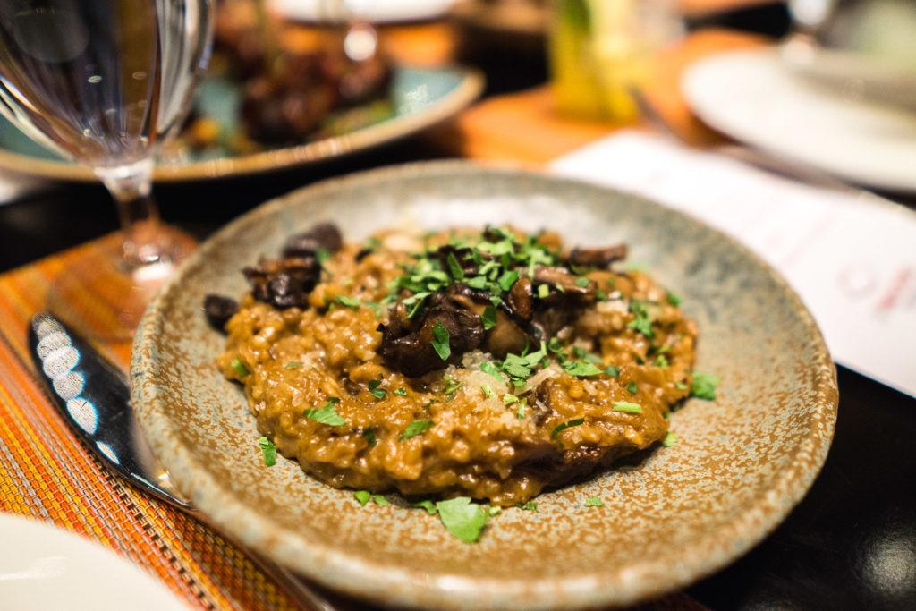 Mushroom risotto from Julian Serrano Tapas in Las Vegas