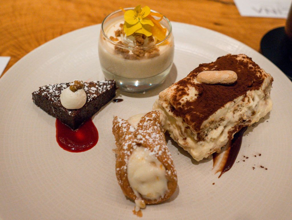 Assortment of desserts from Cucina by Wolfgang Puck