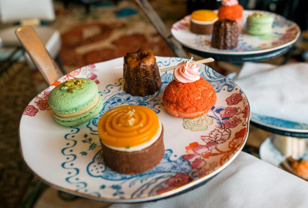 Assortment of desserts at the Waldorf Astoria afternoon tea in Las Vegas