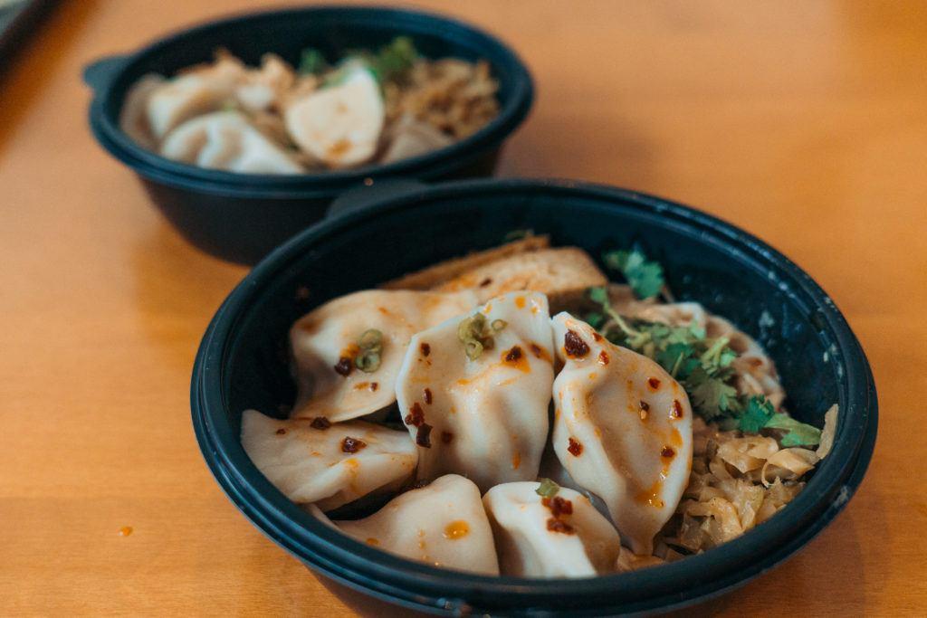 Half & half noodles and dumplings from Three Fold in Little Rock - best restaurants in Little Rock