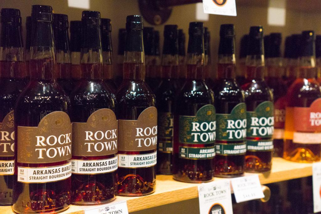 A selection of bourbon from Rock Town Distillery in Little Rock, Arkansas.