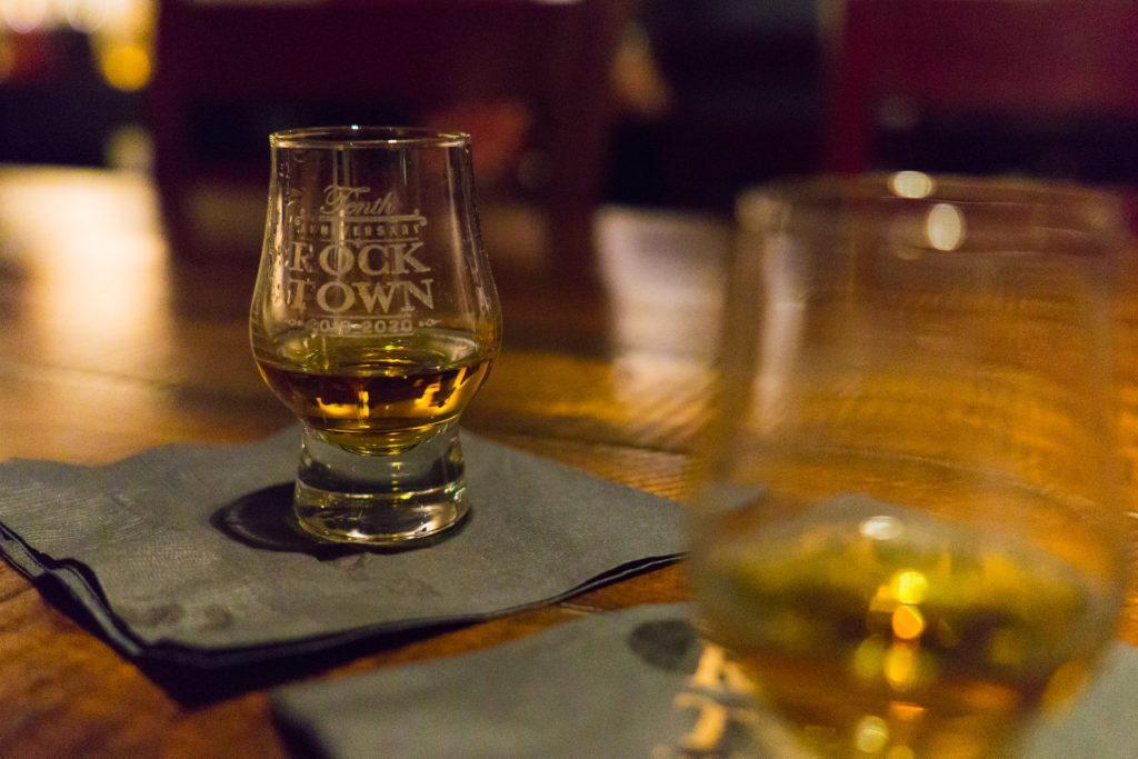 Tasting of Arkansas Bourbon Whiskey at Rock Town Distillery in Little Rock, Arkansas.