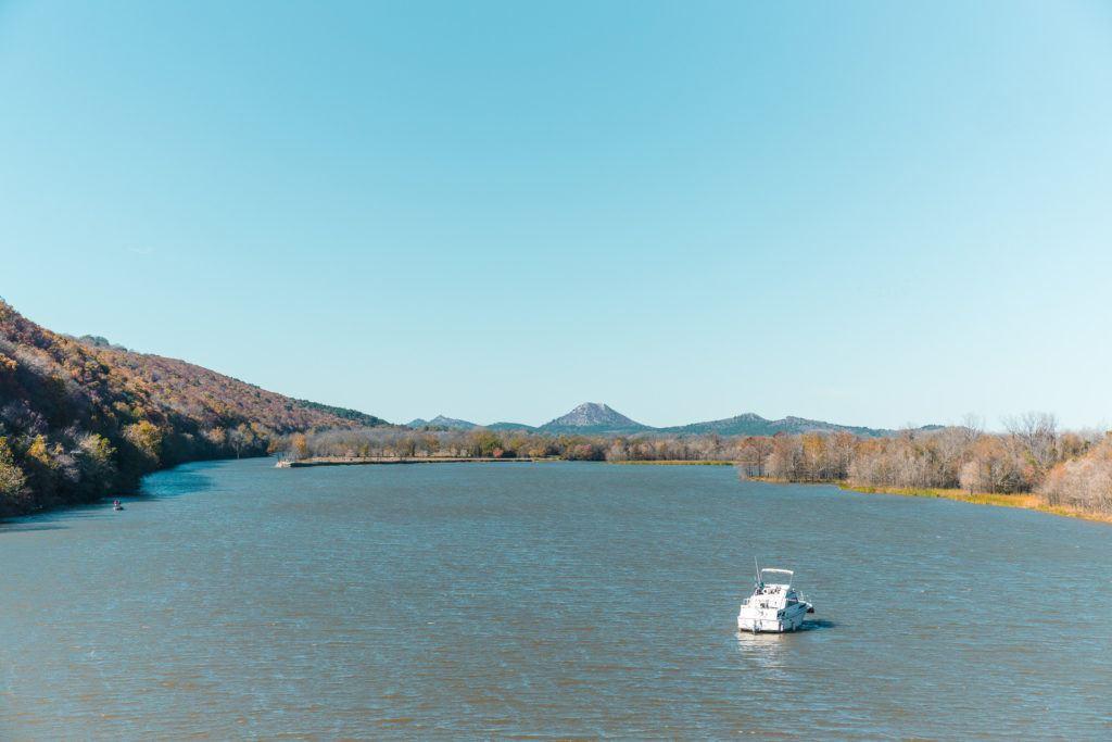 View from Two Rivers Bridge in Little Rock, Arkansas