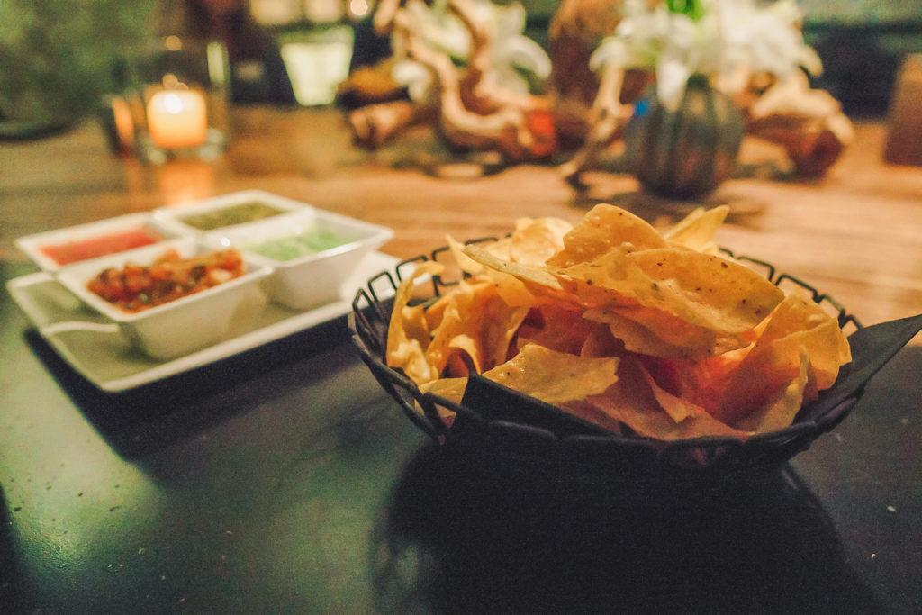 Chips and salsa at Javier's restaurant in Las Vegas - Lip smacking foodie tour