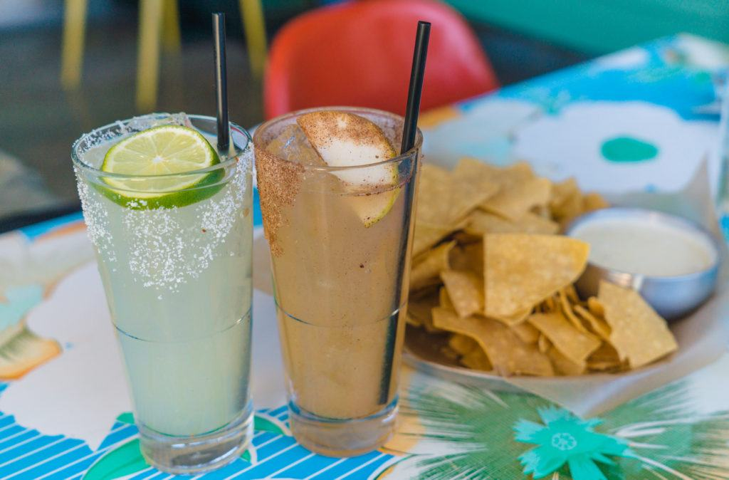 Classic Lime Margarita and Spiced Pear Margarita from The Fold in Little Rock, Arkansas